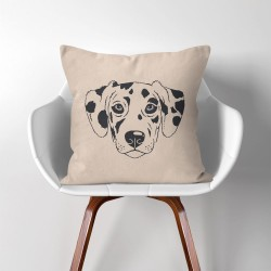 Dalmatian Dog  Linen Cotton throw Pillow Cover (PW-0165)