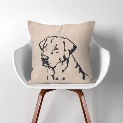Labrador Retriever Dog V.2  Linen Cotton throw Pillow Cover (PW-0167)