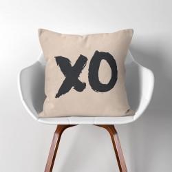 XO  Linen Cotton throw Pillow Cover (PW-0181)