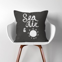 Sea Air and Sun  Linen Cotton throw Pillow Cover (PW-0183)