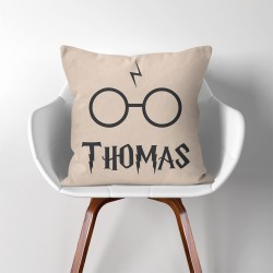 Personalized Name Harry Potter Inspiration  Linen Cotton throw Pillow Cover (PW-0190)