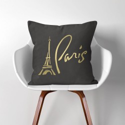 Paris eiffel tower  Linen Cotton throw Pillow Cover (PW-0191)