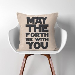 May The Force Be With You Star Wars  Linen Cotton throw Pillow Cover (PW-0209)