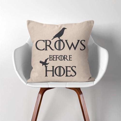ปลอกหมอนอิง ภาพ Crows Before Hoes Game of thrones V.2