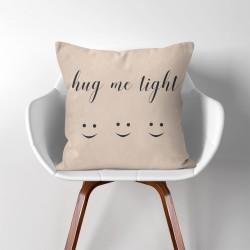 Hug me tight  Linen Cotton throw Pillow Cover (PW-0249)