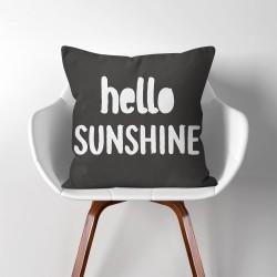 Hello Sunshine  Linen Cotton throw Pillow Cover (PW-0254)