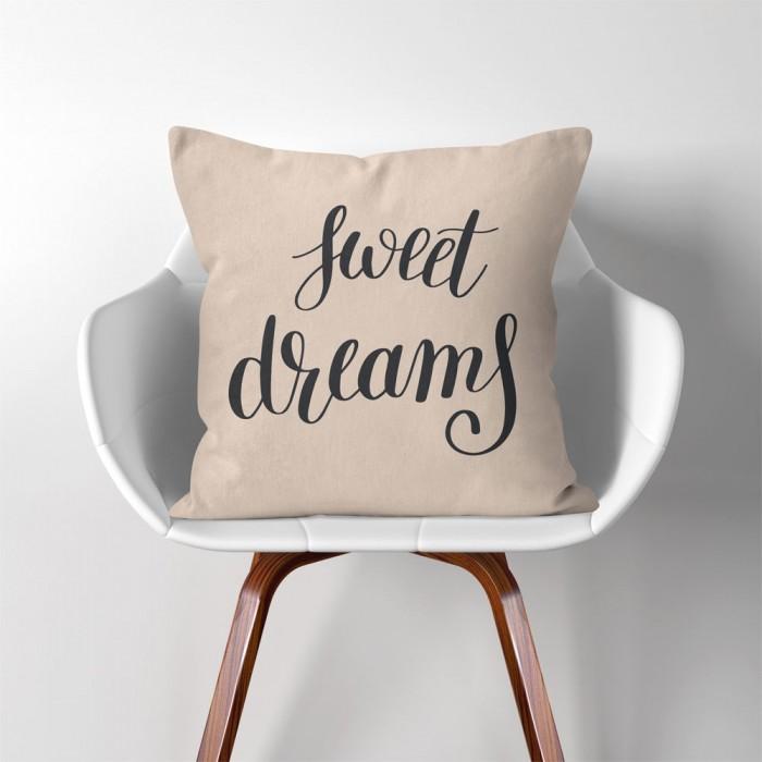 Sweet Dreams Linen Cotton Throw Pillow Cover Best Sweet Dreams Decorative Pillows