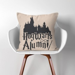 Hogwarts alumni Harry Potter  Linen Cotton throw Pillow Cover (PW-0279)