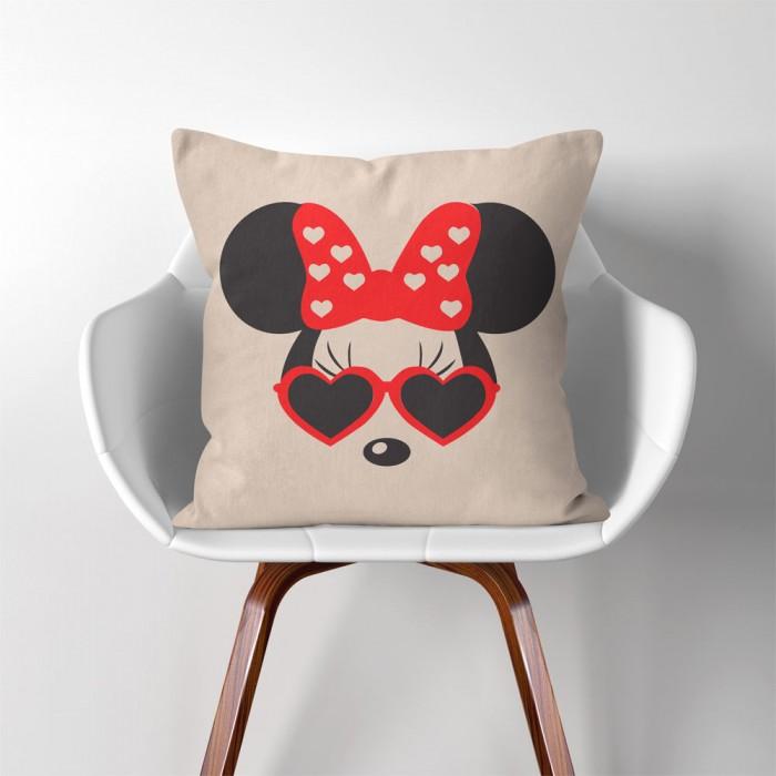 Disney Minnie Mouse Linen Cotton Throw Pillow Cover Magnificent Minnie Mouse Decorative Pillow