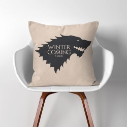 Stark Winter is Coming Game of Thrones  Linen Cotton throw Pillow Cover (PW-0284)
