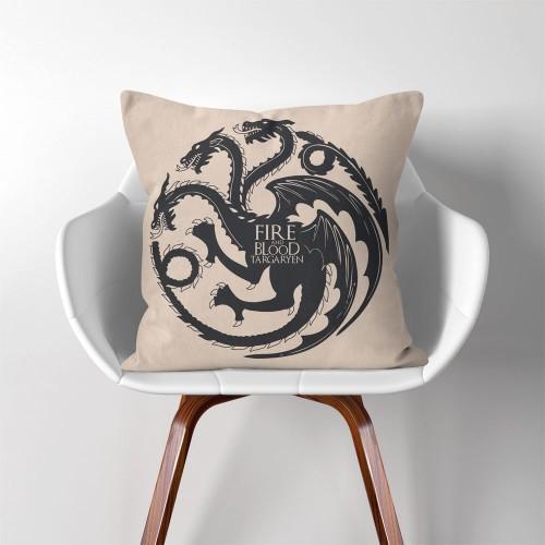 ปลอกหมอนอิง ภาพ Targaryen Fire and Blood Game of Thrones