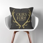 Baratheon Ours is the Fury Game of Thrones  Linen Cotton throw Pillow Cover