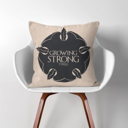 Tyrell Growing Strong Game of Thrones  Linen Cotton throw Pillow Cover (PW-0291)