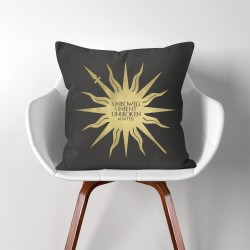 Martell Unbowed Unbent Unbroken Game of Thrones  Linen Cotton throw Pillow Cover (PW-0292)