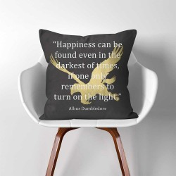 Harry Potter Dumbledore Quotes  Linen Cotton throw Pillow Cover (PW-0295)