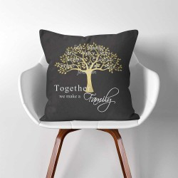 Personalized Family Tree  Linen Cotton throw Pillow Cover (PW-0296)