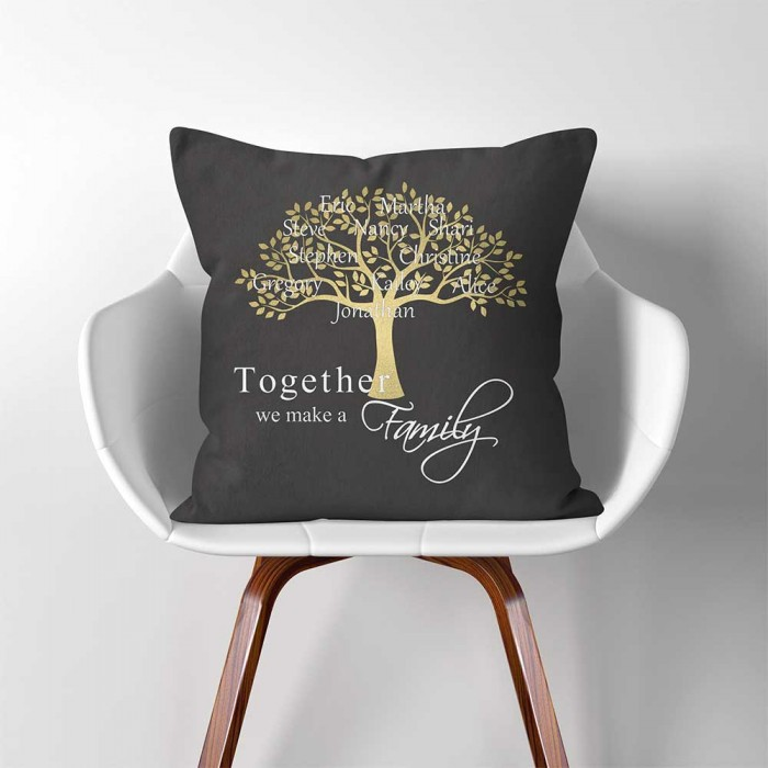 Handmade Grey Trees LINEN Cotton Cushion Cover.Various sizes