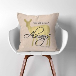 Harry Potter Severus Snape After all this time Always  Linen Cotton throw Pillow Cover (PW-0297)