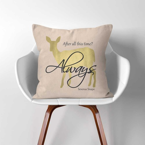 Harry Potter Severus Snape After all this time Always  Linen Cotton throw Pillow Cover