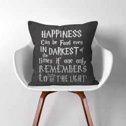 Happiness Can Be Found Even Harry Potter Dumbledore Quote  Linen Cotton throw Pillow Cover (PW-0323)