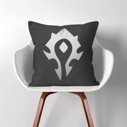 Warcraft Horde Gamer  Linen Cotton throw Pillow Cover (PW-0326)