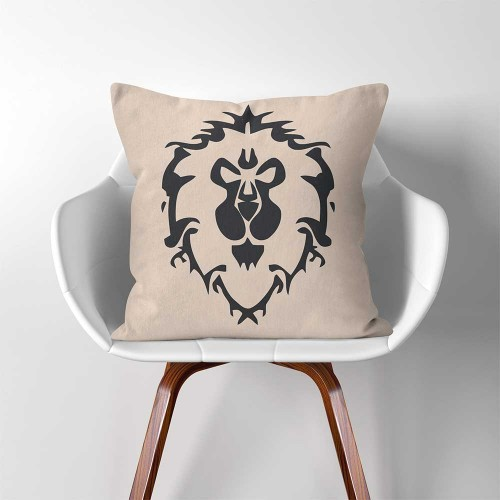Alliance Warcraft Gamer  Linen Cotton throw Pillow Cover