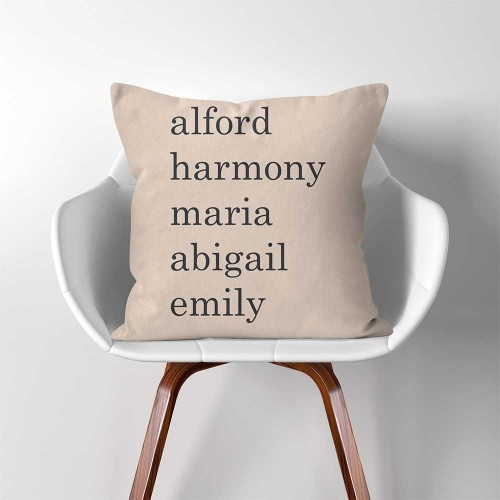 Grandkids personalized names Pillow Cover