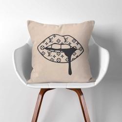 ปลอกหมอน ลายหลุยส์วิตตอง Luxury Lips Louis Vuitton Inspired Pillow Cover  (PW-0337)