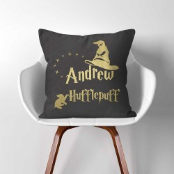 Personalized Name Sorting Hat Hufflepuff Harry Potter throw Pillow Cover (PW-0356)