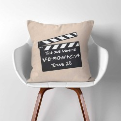 Personalized Birthday Gift CHANEE Film Slate Throw Pillow Cover (PW-0359)