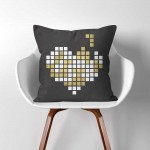 Heart  Linen Cotton throw Pillow Cover