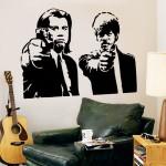 สติกเกอร์ติดผนัง  Pulp Fiction Jules and Vincent Wall Sticke