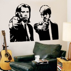 Pulp Fiction Jules and Vincent Vinyl Wall Decal (WD-0001)