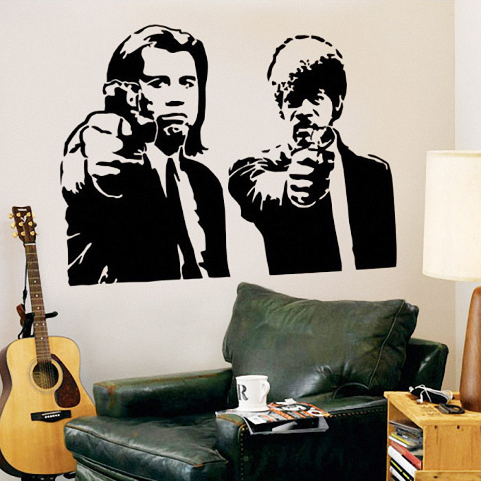 Pulp Fiction Jules and Vincent Vinyl Wall Decal , Wall Sticker