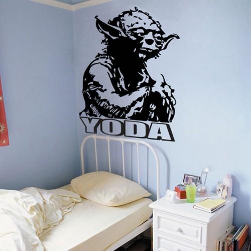 สติกเกอร์ติดผนัง Jedi Master Yoda Wall Sticker