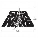 สติกเกอร์ติดผนัง Star Wars Logo Wall Sticker