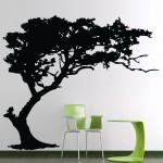 สติกเกอร์ติดผนัง TREE Shade Design Wall Sticker