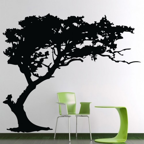 baum silhouette wandaufkleber wandtattoo. Black Bedroom Furniture Sets. Home Design Ideas
