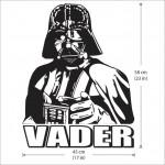 สติกเกอร์ติดผนัง Darth Vader, Dunkle Lords des Sith Wall Sticker