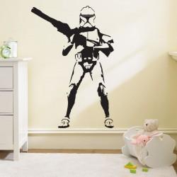สติกเกอร์ติดผนัง Star wars stormtrooper Wall Sticker (WD-0006)