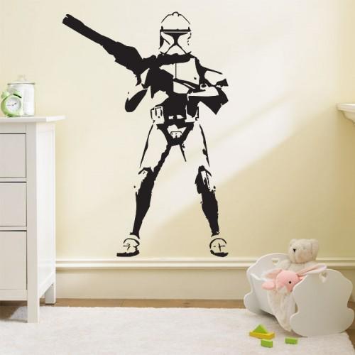 สติกเกอร์ติดผนัง Star wars stormtrooper Wall Sticker