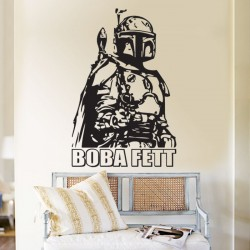สติกเกอร์ติดผนัง Star Wars Boba Fett Wall Sticker (WD-0007)