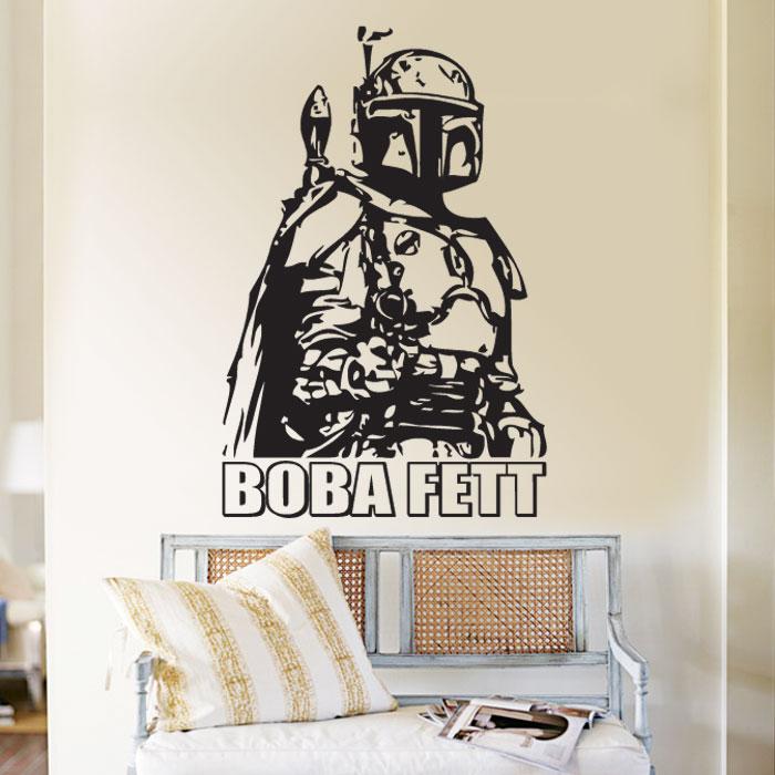 Boba fett vinyl wall art decal wall tattoo