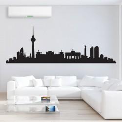 สติกเกอร์ติดผนัง Berlin City Skyline Wall Sticker (WD-0008)