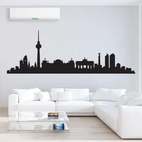 สติกเกอร์ติดผนัง Berlin City Skyline  Wall Sticker