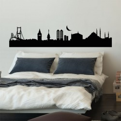 สติกเกอร์ติดผนัง Istanbul City Vinyl Wall Art Decal /  Wall Sticker (WD-0009)