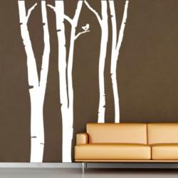 สติกเกอร์ติดผนัง Birch Forest  Wall Sticker (WD-0010)