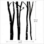 สติกเกอร์ติดผนัง Birch Forest Wall Sticker