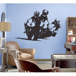 Compete Racing Motorcycle Vinyl Wall Art Decal (WD-0013)