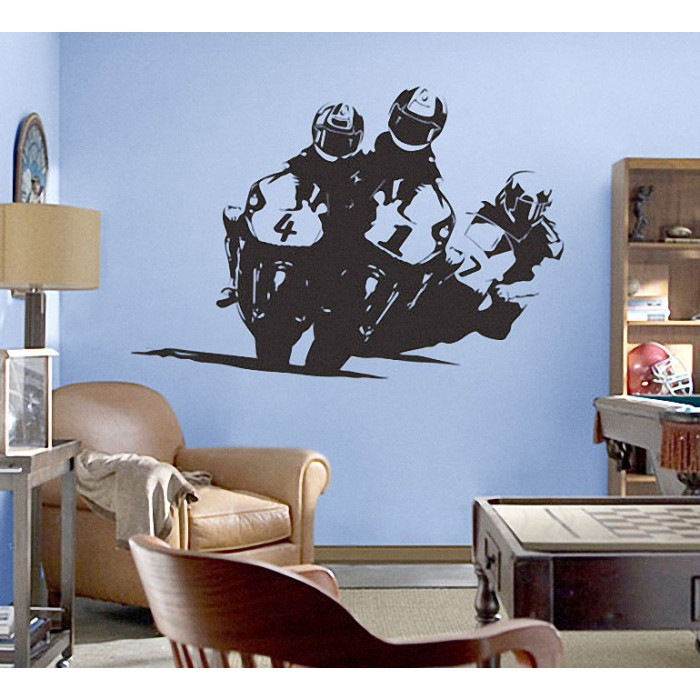 Compete Racing Motorcycle Vinyl Wall Art Decal